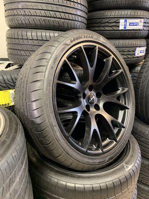 "20"" SRT Hellcat rims satin black W Goodyear F1 super car RFT we finance 0 down for Sale in Mesa, AZ"