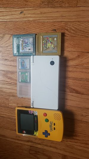 Dsi, gameboy color, pokemon crystal, gold, pokemon mystery dungeon, super mario ds for Sale in Henrietta, NY