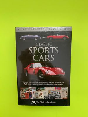 CLASSIC SPORTS CARS 4 DVD SET, BRAND NEW IN PACKAGING. for Sale in Vacaville, CA