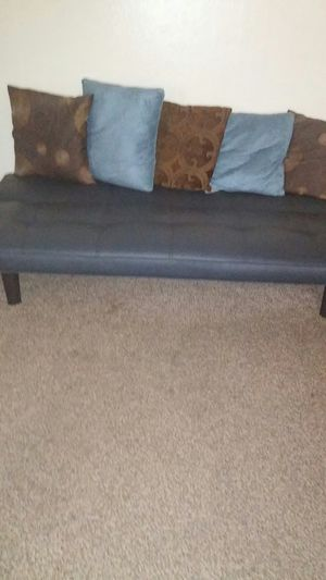 Leather futon for Sale in Sacramento, CA