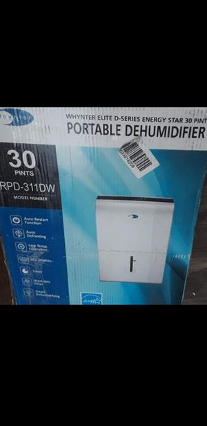 New Whynter Elite D-Series Energy Star 30 Pints Portable Dehumidifier RPD-311DW☆Pick up only☆ for Sale in Phoenix, AZ