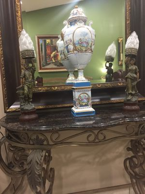 Antique metal lamps, statue. France 🇫🇷 for Sale in Miami, FL