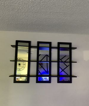 Black Mirror Wall Shelves Decor for Sale in Anaheim, CA