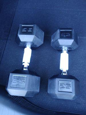 (1) 35lb & (1) 25lb dumbbell, both brand new for Sale in Clovis, CA