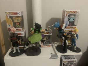Dragonball ball z and super statues for Sale in Brooklyn, NY