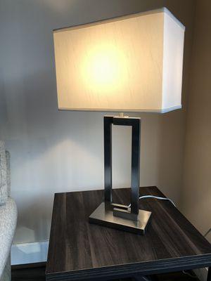 Table lamp (silver w white) -in Reston VA for Sale in Reston, VA