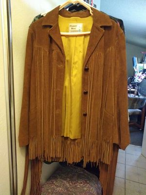 Pioneer wear Suede fringe coat size 16 for Sale in Glendale, AZ