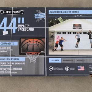 Lifetime Basketball Hoop And Backboard for Sale in Milpitas, CA