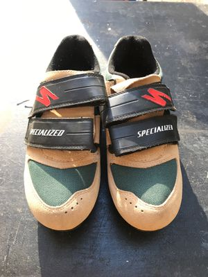Men's 7.5 specialized road bike shoes for Sale in Bend, OR