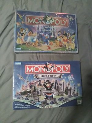 Monopoly board game. 2 Games! BRAND NEW. Disney and billionaire edition for Sale in NEW PRT RCHY, FL