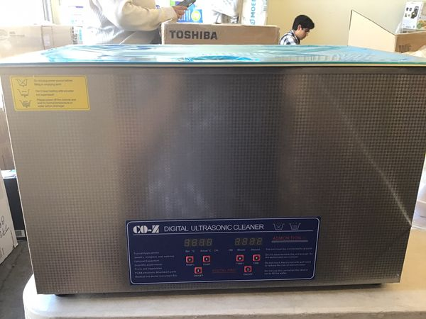 CO-Z 28L Professional Ultrasonic Cleaner with Digital Timer&Heater for Jewelry Glasses Watch Dentures Small Parts Circuit Board Dental