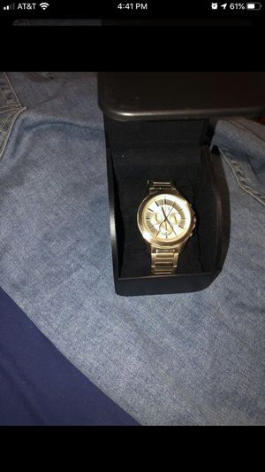 Gold Armani Exchange Watch for Sale in Riverbank, CA