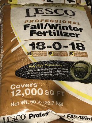 LESCO Professional Fall/Winter Fertilizer for Sale in Manassas, VA