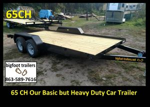 Premium car trailer 16' 16ft hauler open flatbed for Sale in Brandon, FL