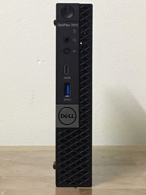 Like New Micro DELL Optiplex 7070 9th generation Core i5 8GB RAM 256GB M.2 SSD Windows 10 dual display desktop computer for Sale in Miramar, FL