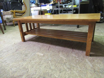 Solid Wood Mission Style Coffee Table - Delivery Available for Sale in Tacoma,  WA
