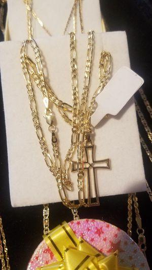 Mens 14k gold chain Italian solid gold measures 24 inches long ( Oro 100% garantizado) for Sale in Manassas, VA