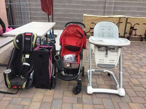 Free high chair,stroller, 2 pack n plays,car seat for Sale in Mesa, AZ