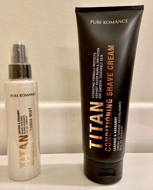 Pure Romance Men's: Titan Conditioning Shave Cream & Refreshing Fragrance Mist for Sale in Orlando, FL