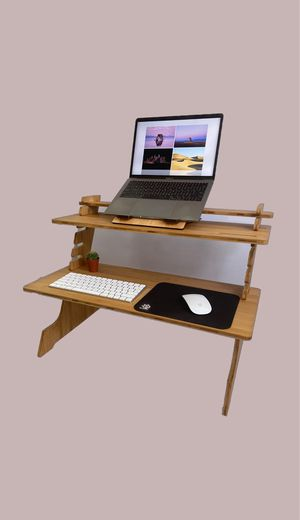 Adjustable & Versatile Standing Desk Converter Desk Monitor Stand Riser AND Portable Laptop Stand for Sale in San Francisco, CA
