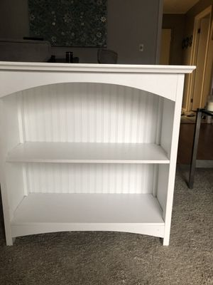 White Decorative Bookcase for Sale in Chestnut Hill, MA