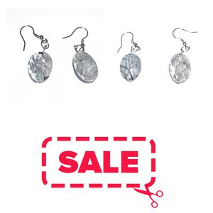 Grey Tone Dangling Earrings. Gray Tone Dangling Earrings. Tiny Chips on the earrings. SHIPPING ONLY!!! for Sale in Colorado Springs, CO