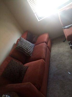 Orange sectional couch for Sale in Silver Spring, MD