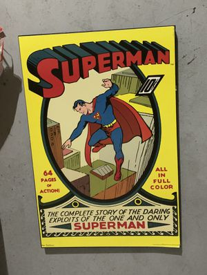 Big superman poster for Sale in Kennewick, WA