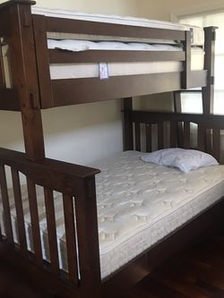 Pottery Barn Twin Over Full Bunk Bed for Sale in Atherton,  CA