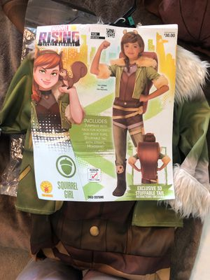 New Child Marvel Rising Squirrel Girl Size 8-10 Med Halloween Costume for Sale in Fontana, CA