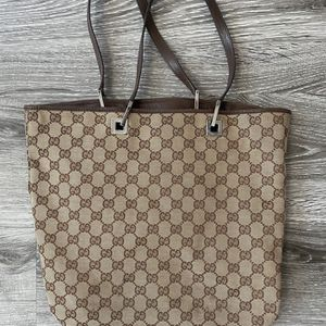 Gucci Vintage Classic Brown Tote/Bucket Bag Purse for Sale in Topanga, CA