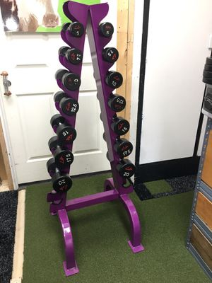 Not Negotiable 5-20 Dumbbells with Rack for Sale in Ridgefield, CT