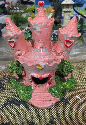 Pink castle Fish tank decoration for Sale in Portland, OR