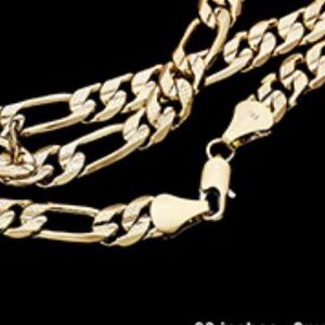 20 inch 14 karat gold plated 5 mm chain for Sale in Beverly Hills, CA