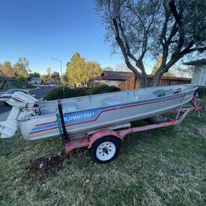 14' Alumacraft Aluminum Boat & Johnson two-stroke for Sale in Martinez, CA