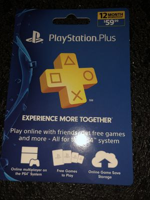 PlayStation 12 month membership for Sale in Fort Lauderdale, FL