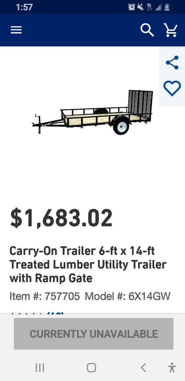 Utility trailer used @ 6 month