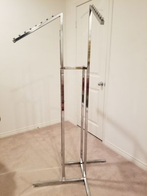 2 Clothing Rack Chrome for Sale in Agua Dulce, CA