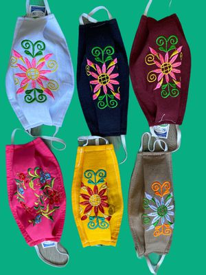 Embroidered Cotton Face Masks/triple protection reusable washable made in mexico $11 Each for Sale in Los Angeles, CA