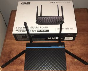 ASUS Dual-Band 2x2 AC1300 Super-Fast Wifi 4-port Gigabit Router with MU-MIMO and USB 3.0 (RT-ACRH13) for Sale in Butler, PA
