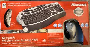 Microsoft Wireless Laser Desktop 4000 Wireless Keyboard and Mouse for Sale in Gilbert, AZ