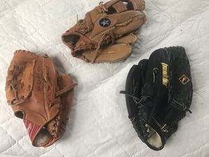 Three baseball gloves for Sale in Bluefield, WV