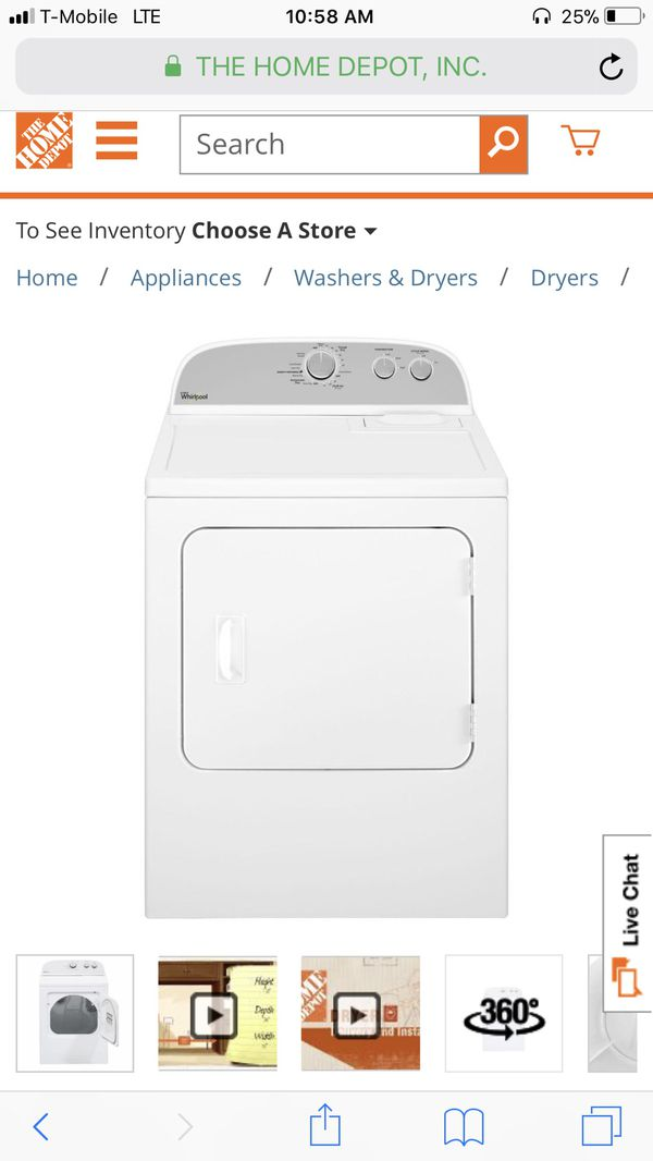 Whirl pool 7 cu ft electric dryer