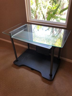 Glass top desk for Sale in San Diego, CA
