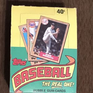 1987 Topps Box of Unopened Packs (36) for Sale in Pittsburgh, PA