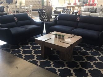 Beautiful Blue Love Seat And Sofa Set!! Take It Home Today!! $49 Down!! for Sale in Dallas,  TX