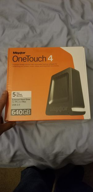 Master onetouch 4 external 640gb harddrive for Sale in Hemet, CA