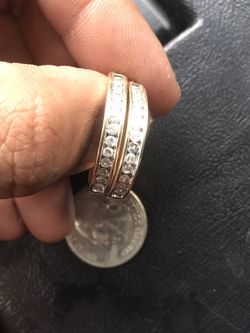 Solid Gold And Real Diamond Hoop Earrings for Sale in San Antonio,  TX