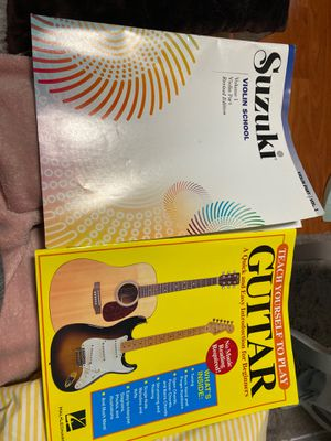 Used but in good condition violin and guitar book for Sale in Rockville, MD