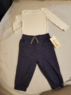 New pants and long sleeve onesie size 6 months for Sale in Compton, CA
